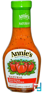 Natural Roasted Red Pepper Dressing, Annie's Naturals, 8 fl oz (236 ml)