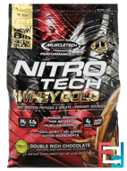Performance Series, Nitro Tech, 100% Whey Gold, Double Rich Chocolate, Muscletech, 8 lbs (3.63 kg)