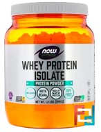 Whey Protein Isolate, Now Foods, Sports, Natural Unflavored, 1.2 lbs, 544 g