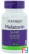 Melatonin, Natrol, 3 mg, 60 Tablets