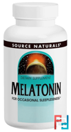 Melatonin, Peppermint Flavored Sublingual, Source Naturals, 2.5 mg, 240 Tablets