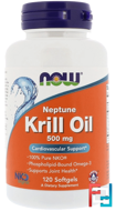 Neptune Krill Oil, 500 mg, Now Foods, 120 Softgels