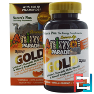 Source of Life, Animal Parade Gold, Children's Chewable Multi-Vitamin & Mineral Supplement, Natural Orange Flavor, Nature's Plus, 120 Animals
