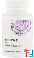 Iodine & Tyrosine, Thorne Research, 60 Vegetarian Capsules
