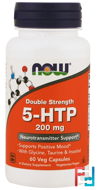 5-HTP, Now Foods, 200 mg, 60 Vcaps