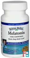Stress-Relax, Melatonin, Natural Factors, 3 mg, 90 Chewable Tablets