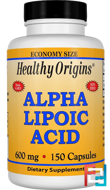 Alpha Lipoic Acid, Healthy Origins, 600 mg, 150 Capsules
