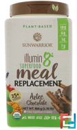 Plant-Based Organic Superfood Meal Replacement, Aztec Chocolate, Sunwarrior, Illumin8, 1.76 lb (800 g)