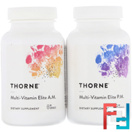 Multi-Vitamin Elite, 2 Bottles, Thorne Research, 90 Vegetarian Capsules Per Bottle