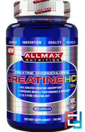 100% Pure Creatine HCI, 60% Greater Creatine Absorption, ALLMAX Nutrition, 750 mg, 90 Capsules