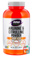 Arginine & Citrulline Powder, Sports, Now Foods, 12 oz, 340 g