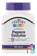 Papaya Enzyme, 21st Century, 100 Chewable Tablets