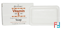 Vitamin E Soap, Fragrance Free Antioxidant, Cococare, 4 oz. (113 g)
