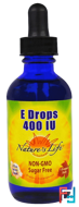 E Drops , 400 IU, Nature's Life, 2 fl oz (60 ml)