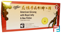 American Ginseng with Royal Jelly & Bee Pollen, Prince of Peace, 10 Bottles, 0.34 oz, 10 cc