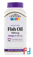 Fish Oil, 21st Century, 1000 mg, 90 Enteric Coated Softgels
