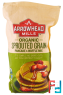 Organic Sprouted Grain Pancake & Waffle Mix, Arrowhead Mills, 26 oz (737 g)