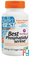 Best Phosphatidylserine with SerinAid, Doctor's Best, 100 mg, 120 Veggie Caps