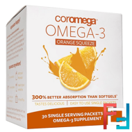Omega-3, Orange Squeeze, Coromega, 30 Packets, 2.5 g