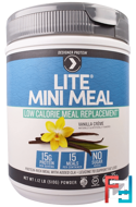 Lite Mini Meal Low Calorie Meal Replacement Powder, Vanilla Creme , Designer Protein, 1.12 lb (510 g)