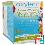 Oxylent, Multivitamin Supplement Drink, Variety Pack, Vitalah, 30 Packets, 5.9 g