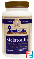 Melatonin, NutraLife, 3 mg, 120 Easy Chew Tablets