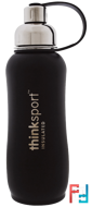 Thinksport , Insulated Sports Bottle, Black, Think, 25 oz (750 ml)