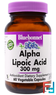 Alpha Lipoic Acid, Bluebonnet Nutrition, 300 mg, 60 Veggie Caps