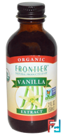 Organic, Vanilla Extract, Frontier Natural Products, 2 fl oz, 59 ml