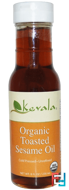 Organic Toasted Sesame Oil, Kevala, 8 fl oz (236 ml)