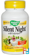 Silent Night with Valerian, 440 mg, Nature's Way, 100 Capsules