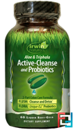 Aloe & Triphala Active-Cleanse and Probiotics, Irwin Naturals, 60 Liquid Soft-Gels
