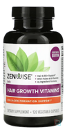 Daily Hair Growth Vitamins With DHT Blocker, Zenwise Health, 120 Vegetarian Capsules