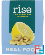 The Simplest Protein Bar, Lemon Cashew, Rise Bar, 12 Bars, 2.1 oz (60 g) Each