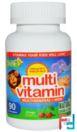 Multi Vitamin, Multimineral + Iron, Zing Cherry, Yum-V's, 90 Chewables