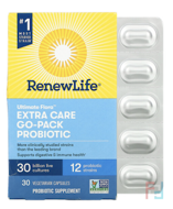 Extra Care, Ultimate Flora Probiotic, 30 Billion Live Cultures, Renew Life, 30 Vegetable Capsules
