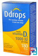 Liquid Vitamin D3, Ddrops, 1000 IU, 0.17 fl oz, 5 ml