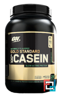 100% Casein Gold Standard Natural, Naturally Flavored, Optimum Nutrition, 2 lb, 909 g