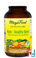 Multi for Healthy Bone, MegaFood, 120 Tablets