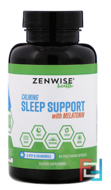 Natural Sleep Support, Calming Supplement, Zenwise Health, 60 Veggie Caps