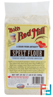 Spelt Flour, Whole Grain, Stone Ground, Bob's Red Mill, 24 oz (680 g)