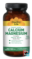 Target-Mins, Calcium-Magnesium Complex, Country Life, 180 Tablets
