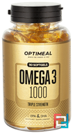Omega-3 1000, OptiMeal, 90 softgels