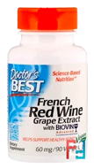 French Red Wine Grape Extract, Doctor's Best,60 mg, 90 Veggie Caps