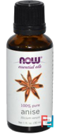 Essential Oils, Anise, Now Foods, 30 ml