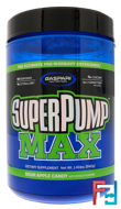 SuperPump Max, Sour Apple Candy, Gaspari Nutrition, 1.41 lbs, 640 g