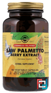 Saw Palmetto Berry Extract, Solgar, 180 Vegetable Capsules
