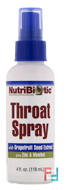 Throat Spray, NutriBiotic, 118 ml