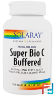 Super Bio C Buffered, Solaray, 100 Vegetarian Capsules