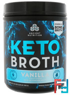 Keto Broth, Keto Activation Broth, Vanilla, Dr. Axe / Ancient Nutrition, 19.6 oz, 555 g